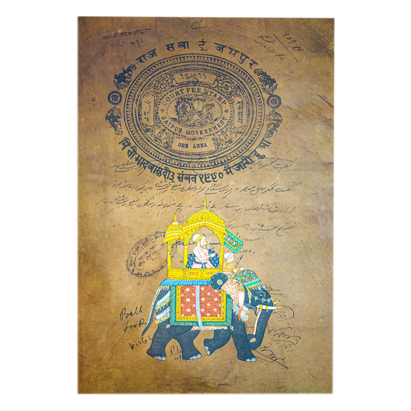 HANDICRAFT ASSORTED AMBAWARI  ON OLD STAMP PAPER WITHOUT FRAME A4 SIZE