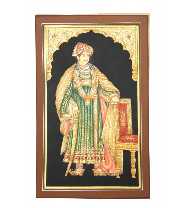 Handmade Assorted Fine Quality Raja Painting on Paper 8x12 Inch