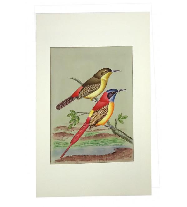 Traditional Bird Handmade Painting