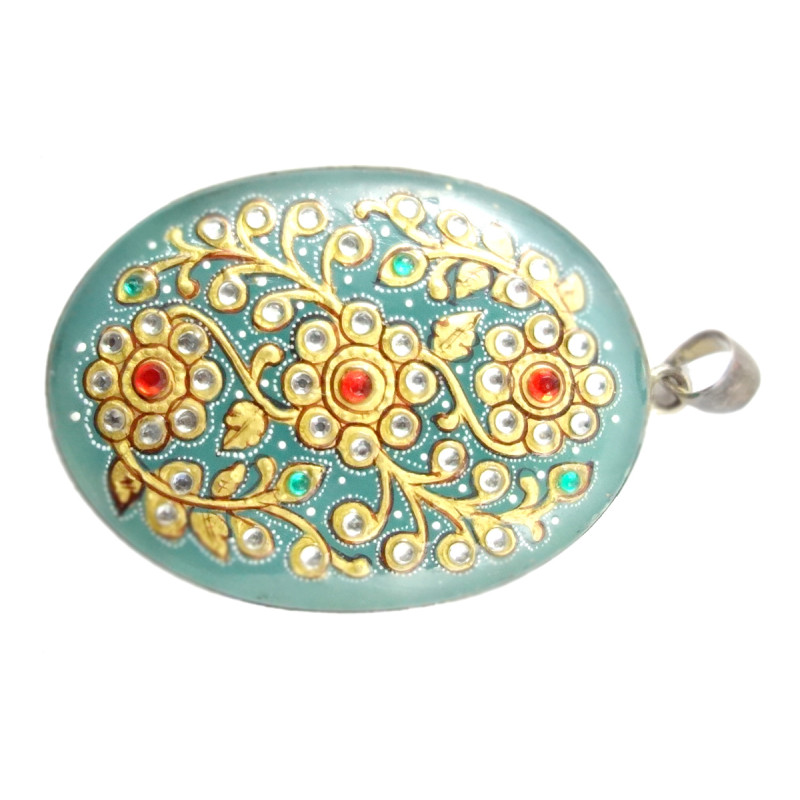 HANDICRAFT ASSORTED HAND PAINTING PENDENT STONE
