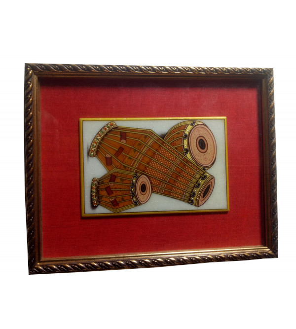 Musical Instrument Painting Handcrafted With Pure Gold Leaf Work