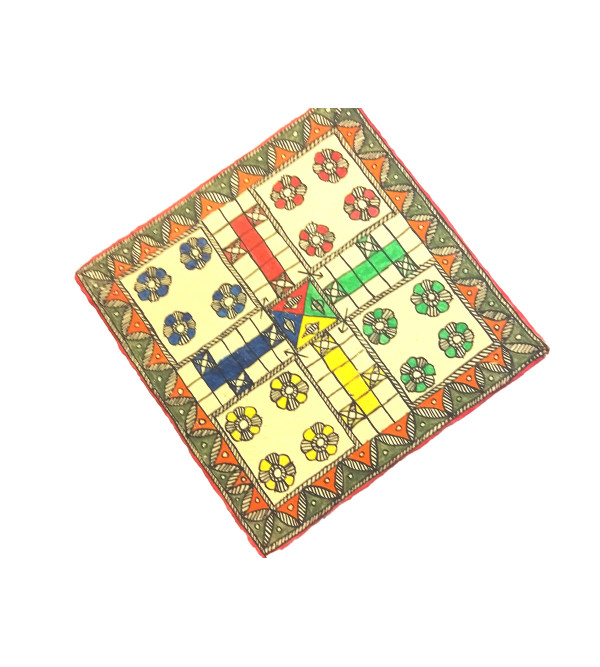 Handcrafted Papier Mache Ludo Game Size 11x11 Inch
