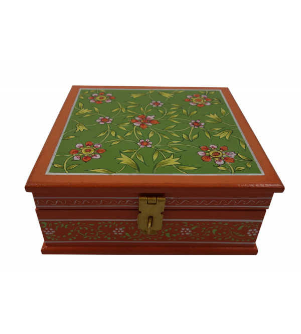 Ply Wood Hand Painted Box Jaipur Style