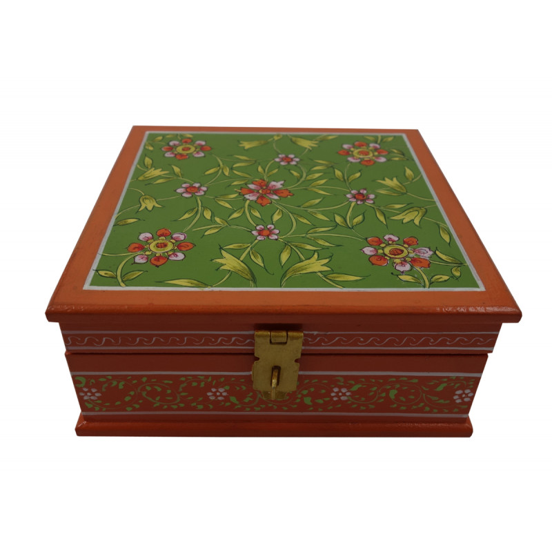 Painted BOX JAIPUR STYLE PLY 6x6x2.5 inch