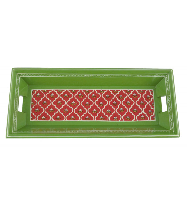 PAINTED TRAY JAIPUR STYLE PLY 12x5 INCH