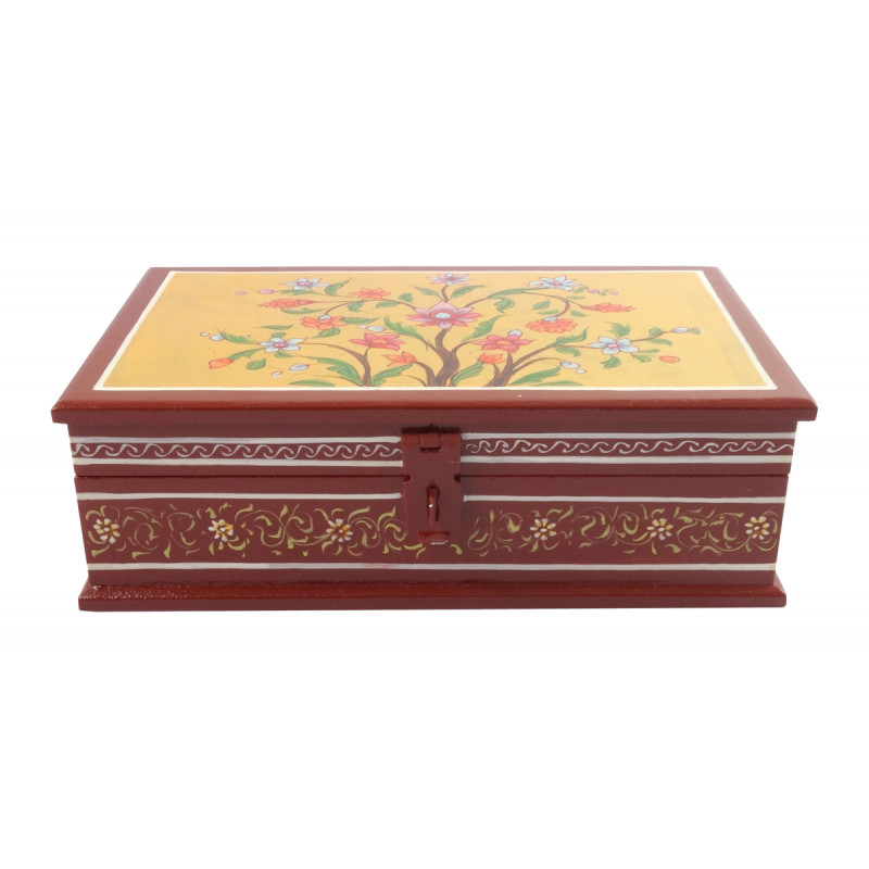 HANDICRAFT WOODEN PAINTED BOX 8X5 INCH