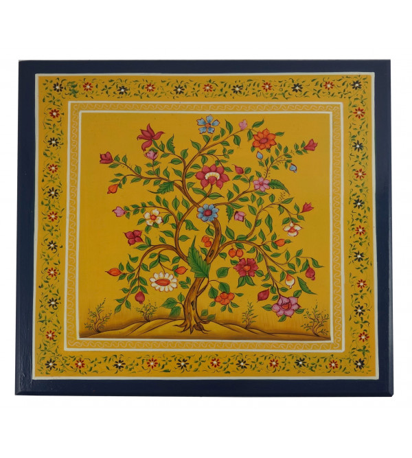 HANDICRAFT WOODEN PAINTED BOX 12X12X2 INCH