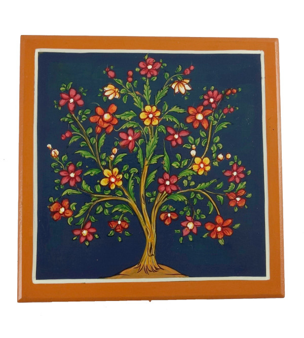 HANDICRAFT WOODEN PAINTED BOX 6X6 INCH