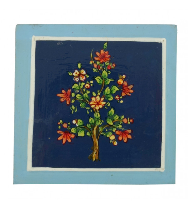 HANDICRAFT WOODEN PAINTED ARTICLE SQUARE COASTER
