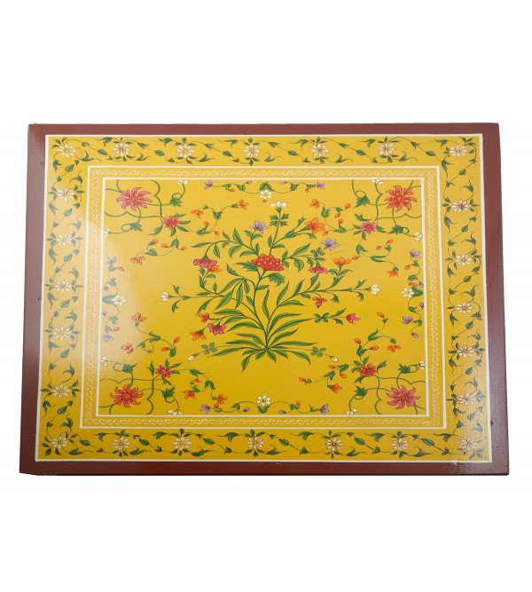 HANDICRAFT ASSORTED KISHANGARH SYLE PAINTED BOX IN PLY WOOD 16X16X4.5 INCH