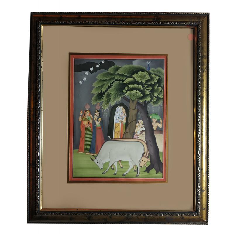 Radha Krishna Handmade Painting