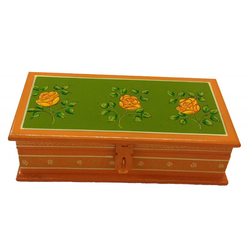 Jaipur Style Hand Painted Box Size 8X4 Inches
