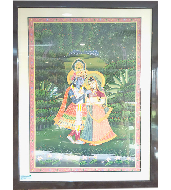 Cotton painting  with frame size 41x39inch
