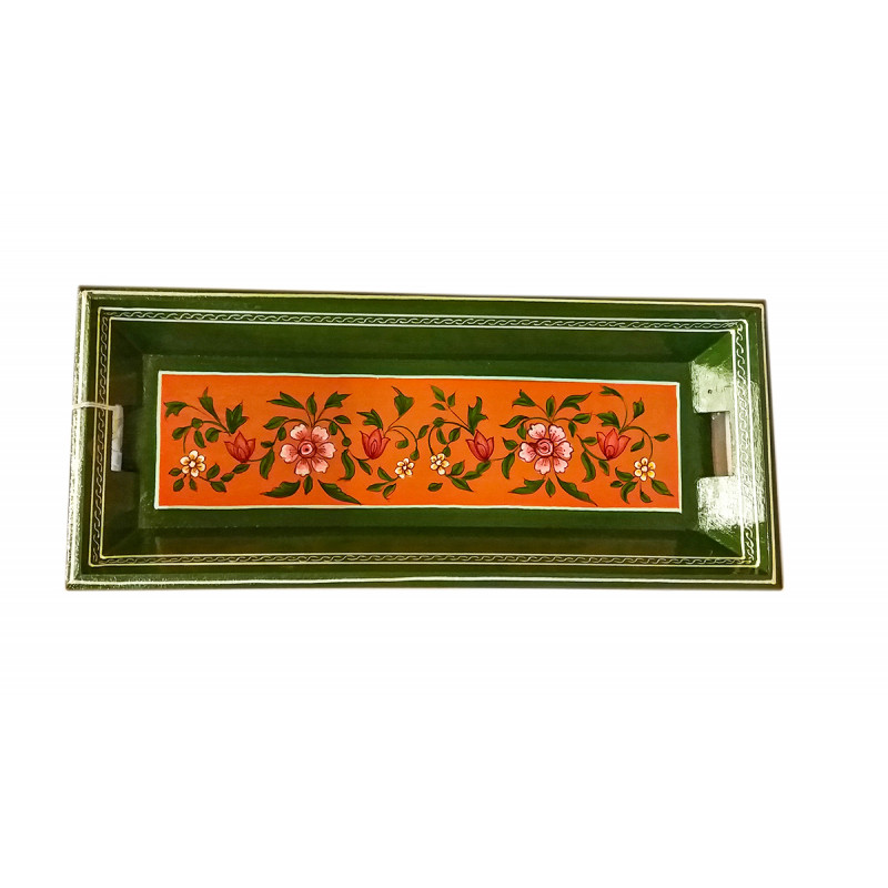 Wooden Jaipur Style Handcrafted and Hand Painted Tray