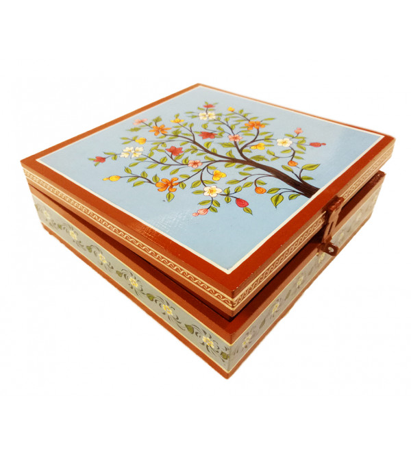 Wooden Hand Painted Box