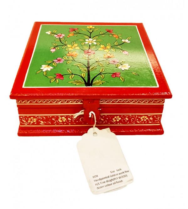 WOODEN BOX  6 x 6 inch ass design