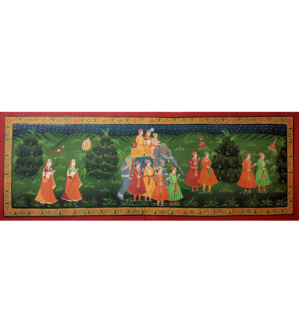 1X3 FT COTTON PAINTING PICHWAI RADHA KRISHNA