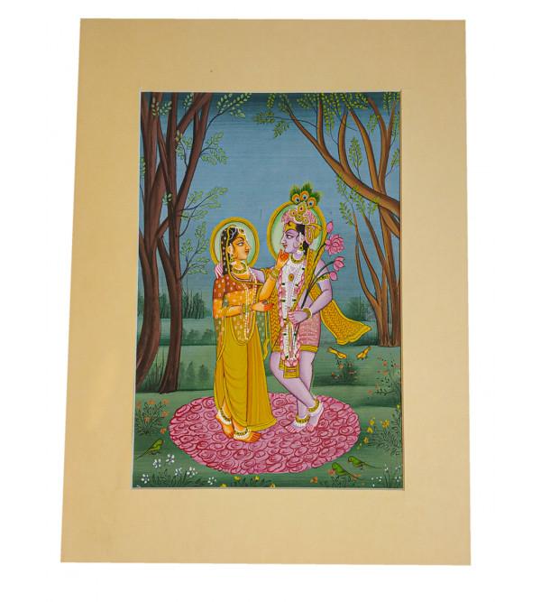 Radha Krishna silk Assorted painting