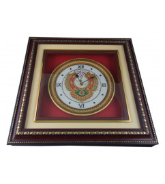 Marble items  Figures watch with 9 Inch plate framed