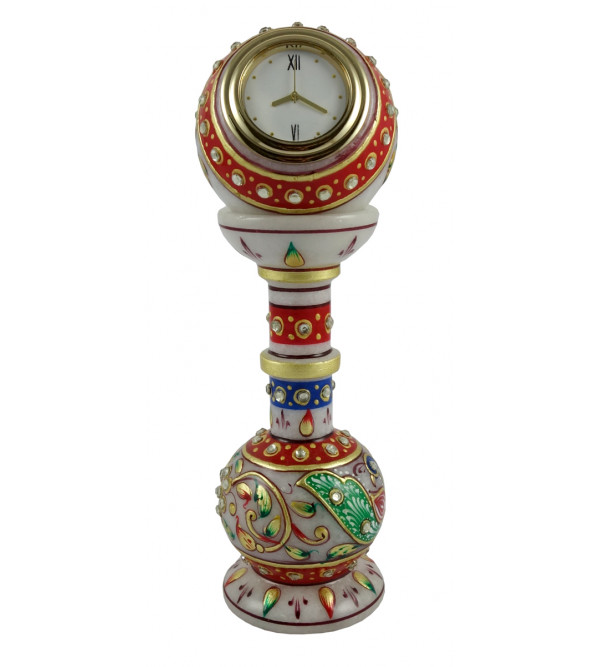 HANDICRAFT 6X2 Inch PILLAR WATCH WITH REAL GOLD WORK