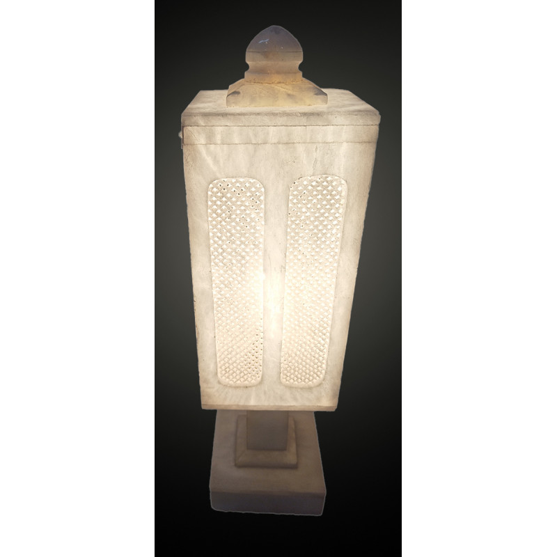 Handcrafted Alabaster Lamp Size 10 Inch