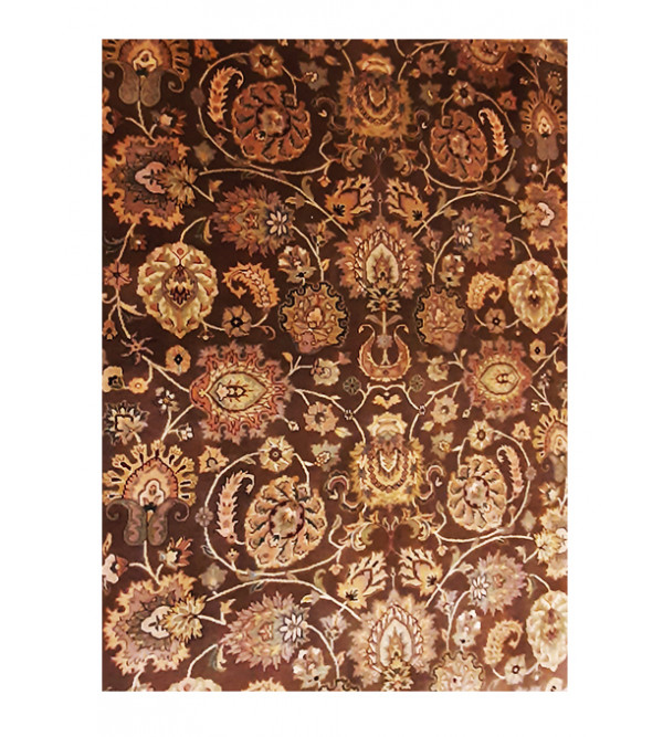 Bhadohi Hand-Knotted Woolen carpet Size 8ftx10ft