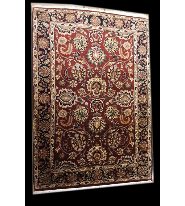 Bhadohi  Woolen Hand Knotted carpet Size 5.11 ft. x4.1 ft.