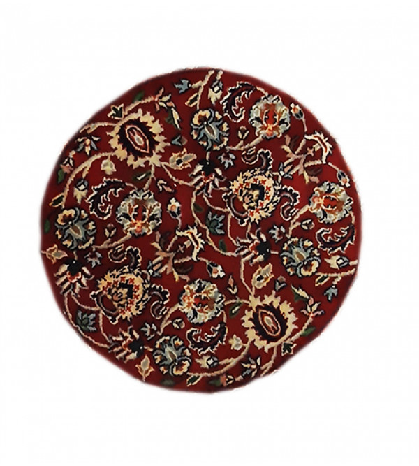 Woolen Hand Knotted carpet Round Shape
