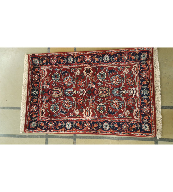 Bhadohi  Woolen Hand Knotted carpet Size 2.1 ft x3.3 ft