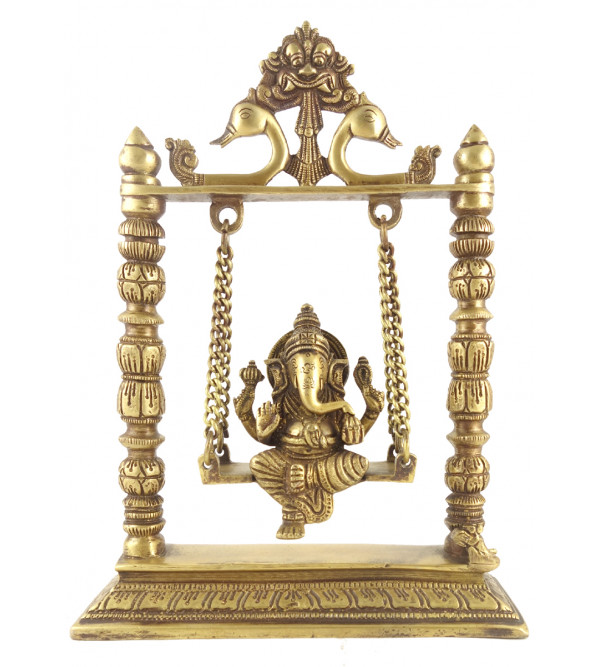 Ganesh on swing 10 inch