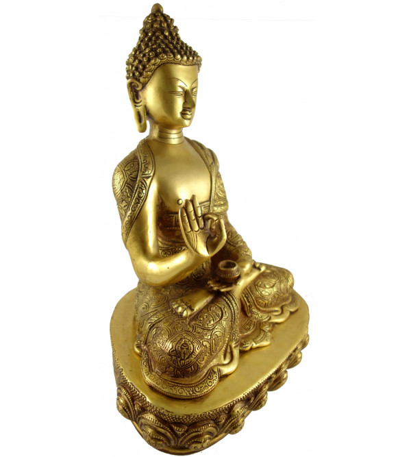 HANDICRAFT BRASS BUDDHA 6 INCH