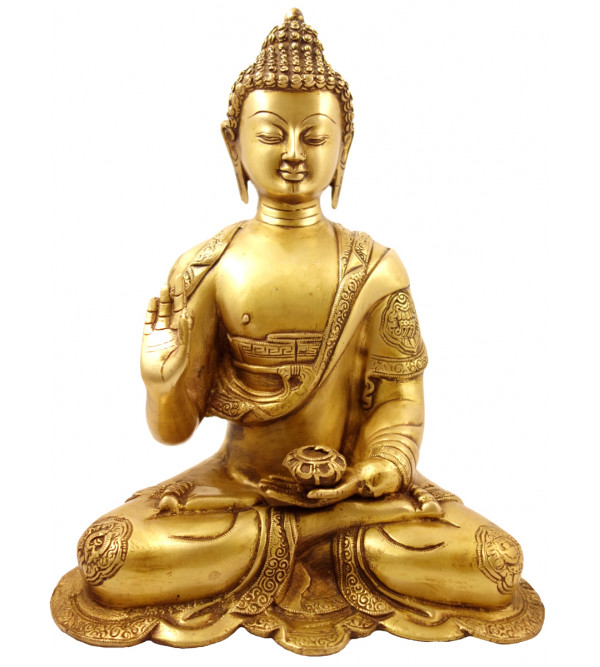 Handicraft Brass Buddha Baseless 14 Inch