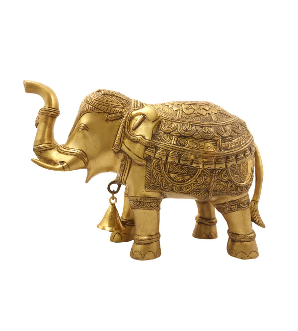 Handicraft Brass Elephant Tup with Bell