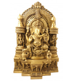 Handicraft Brass Ganesh Temple 18 Inch