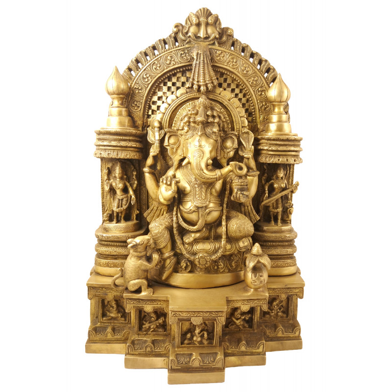 Handicraft Brass Ganesh Temple 18 Inch