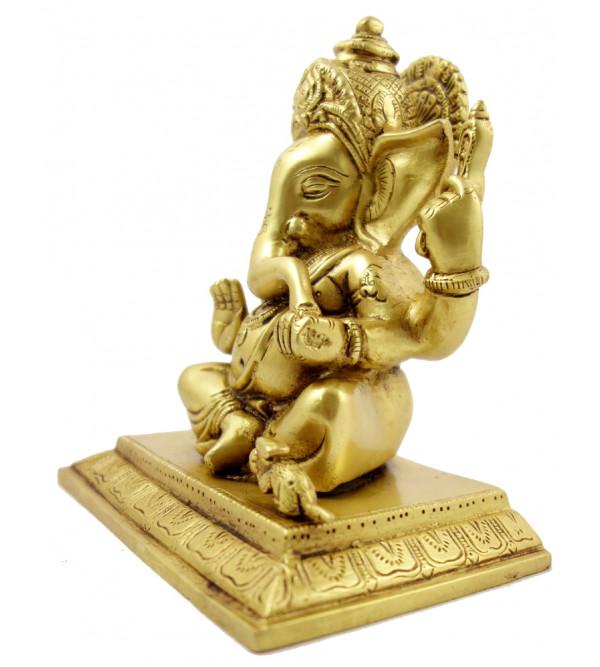 Handicraft Brass Ganesha 6.5 Inch