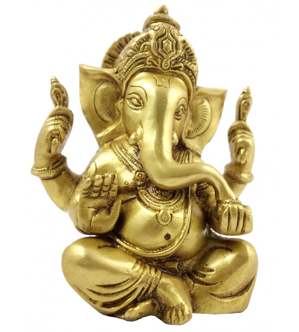 Handicraft Brass Ganesha 6 Inch