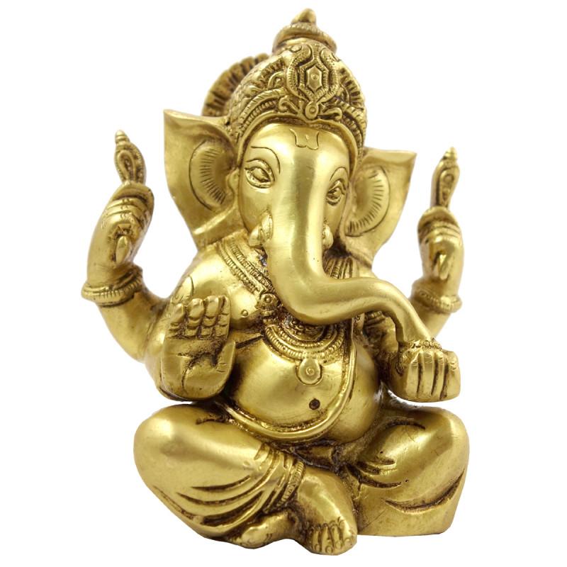 Handicraft Brass Ganesha 6 Inch