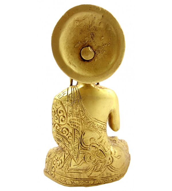 Buddha Sitting Handcrafted In Brass Size 5.5 Inches