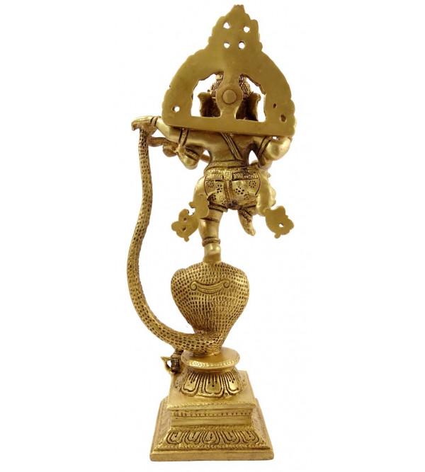 Handicraft Brass Ganesh on Snake 11 Inch