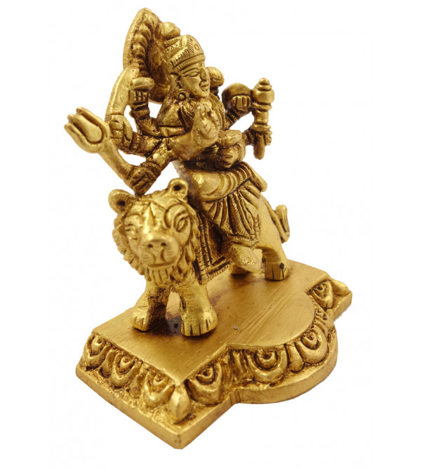Handicraft Brass God Figure Durga 3 Inch