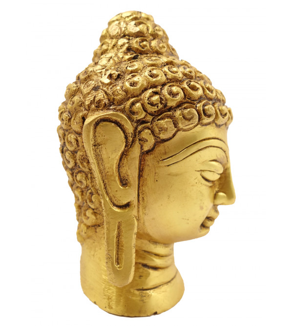 Handicraft Brass Buddha Head 4 Inch