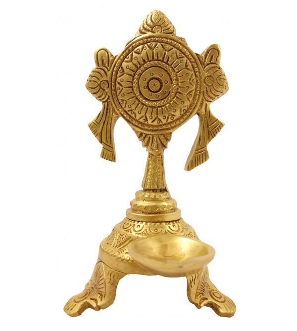 Handicraft Brass Shankh Chakra Deeva
