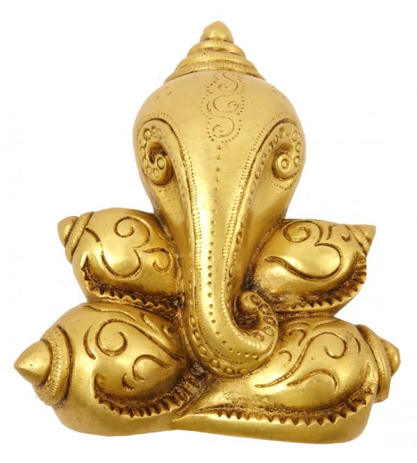 Handicraft Brass Ganesh Shankh Model 6.5 Inch