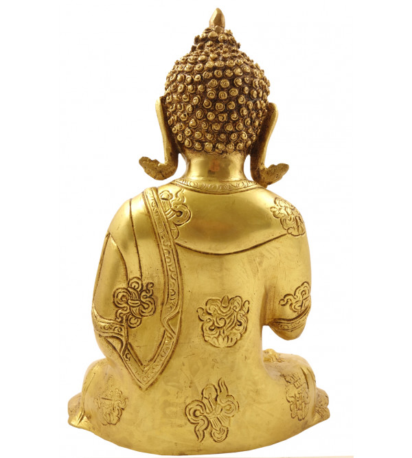Handicraft Brass Buddha 10 Inch
