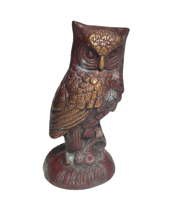 Owl Handcrafted In Brass