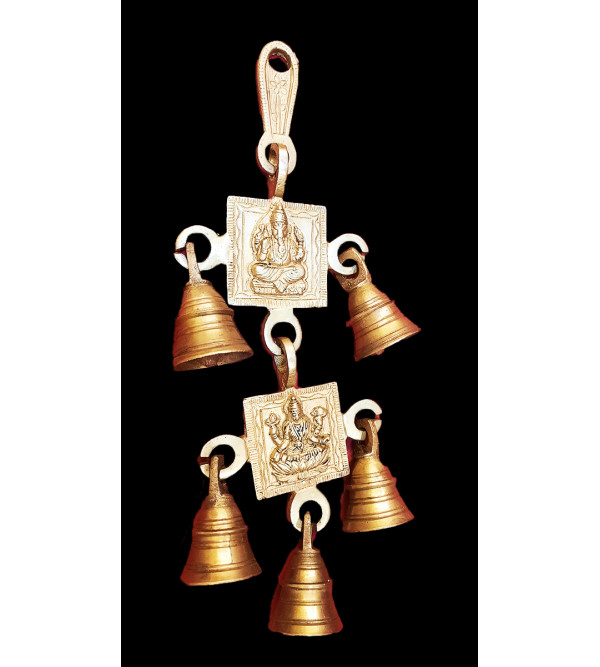Brass Cow Bell two  string 9inch fine work