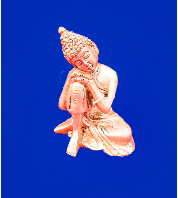 Buddha Handcrafted In Brass Size 4 Inches