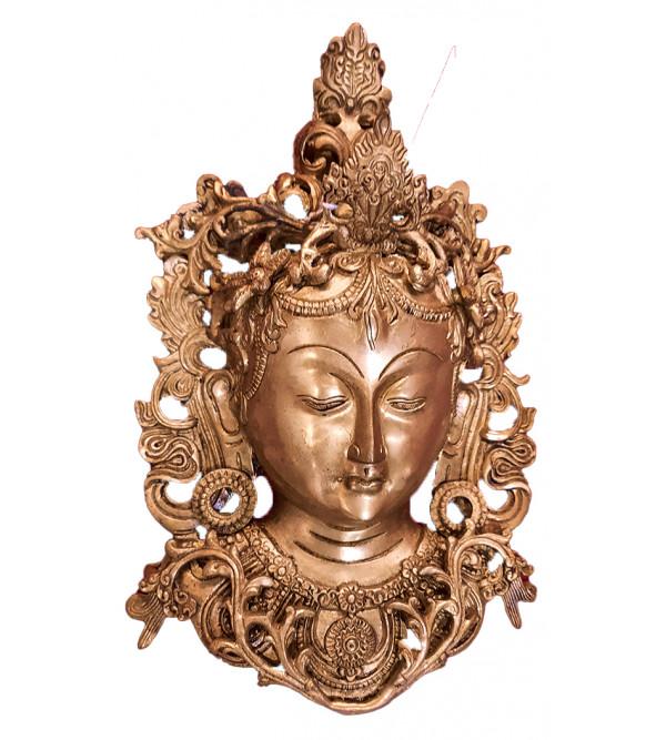 Brass Tara mask 12 inch fine work