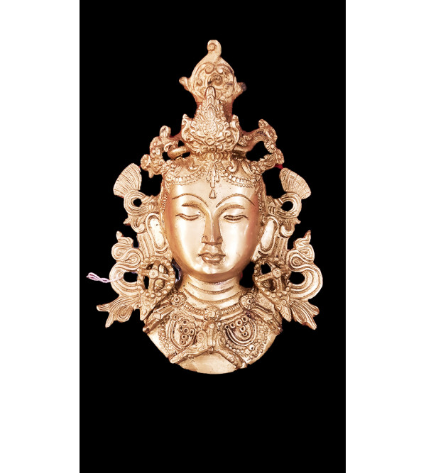 Brass Tara mask 8 inch fine work